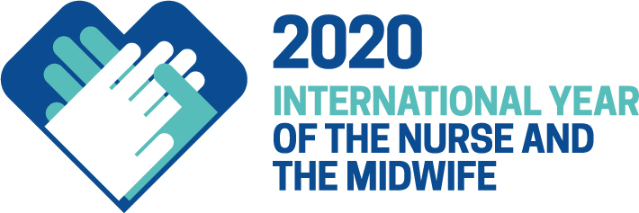 Logo saying 2020 International Year of the Nurse and the Midwife